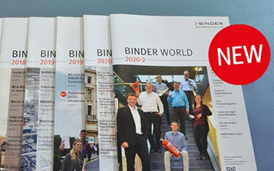 New issue of BINDER WORLD
